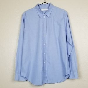 Everlane Blue Button Up Cotton Top Collared 12